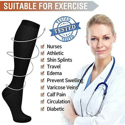 £3.94 • Buy Compression Socks Graduated Support For Circulation & Recovery For Mens Womens