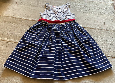 Girls Bluezoo Blue And White Stripe Dress - Size 10 Years • 1.10£