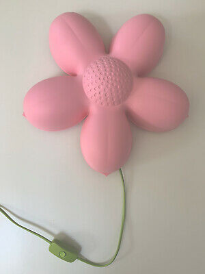 Ikea SMILA BLOMMA Pink Flower Night Light/ Lamp For Kids. • 4£