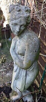 Classic Garden Lady Figure Stone Composite Beautifully Weathered & Very Old • 95£