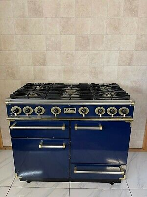 £1290 • Buy All Gas Falcon 110cm Range Cooker In Blue And Brass.  Ref-- F26