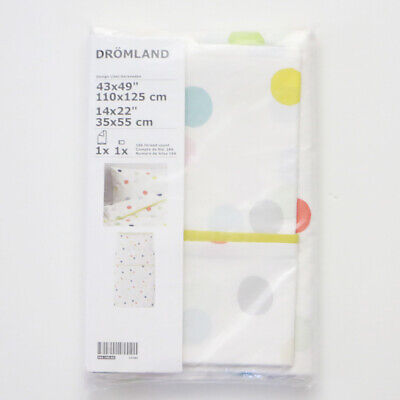 Ikea DRÖMLAND Cotton Duvet Cover And Pillowcase Toddler New • 21.42£