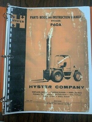 Hyster P60a Parts Book & Instruction Manual Pioneer Form 954 • 54.62£