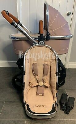 ICandy Peach 4 (2016) Butterscotch Pram Pushchair Travel System Unisex Beige  • 550£