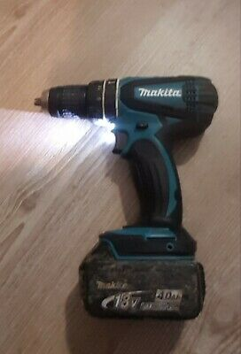Makita BHP456 Cordless Drill 18v - BODY ONLY + (worn Case) 4Ah Fully Working • 20£