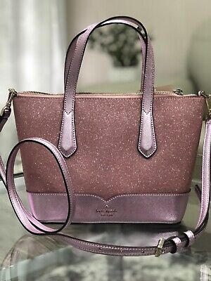 $ CDN119 • Buy NWT KATE SPADE Lola Glitter Small Satchel Tote Rose Pink Crossbody