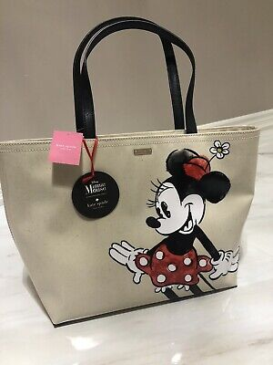 $ CDN149 • Buy Kate Spade Disney Minnie Mouse Francis Large Zip Shoulder Tote Bag