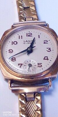 Vintage Lanco 15 Jewels Swiss Made Ladies Mechanical Watch • 12£