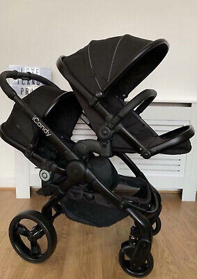Icandy Peach 3 Jet Black Double Blossom Twin Pushchair • 285£