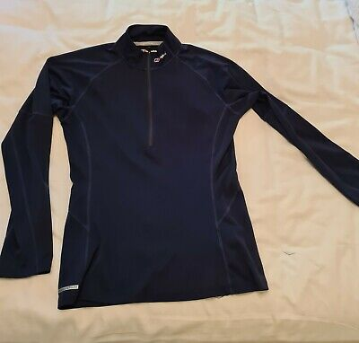 Berghaus Black Base Layer Zip Up Top Ladies 12 • 3.20£