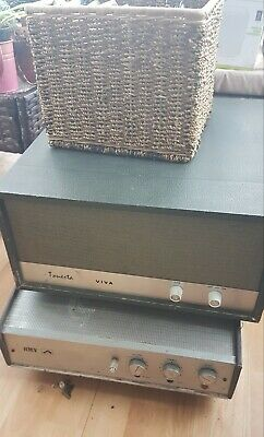 Vintage/60s  Hmv And Tonesta Viva Record Players With Box Of 45s  Spares/Repair • 50£