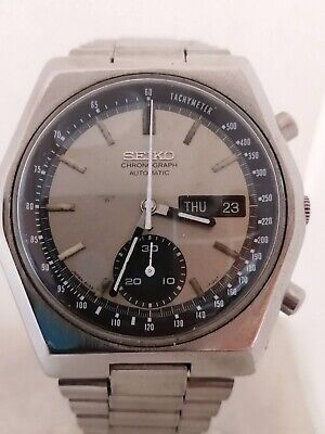 $ CDN252.47 • Buy Vintage Seiko Chronograph Automatic Watch 6139-6139 Running Keeping Time