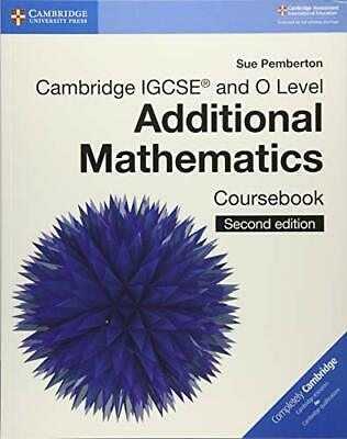 Cambridge IGCSE® And O Level Additional Mathematics Cour New Paperback Book • 33.37£