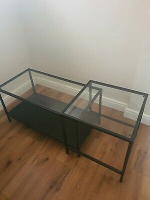 Ikea Glass Coffee Table - Nest • 24.99£