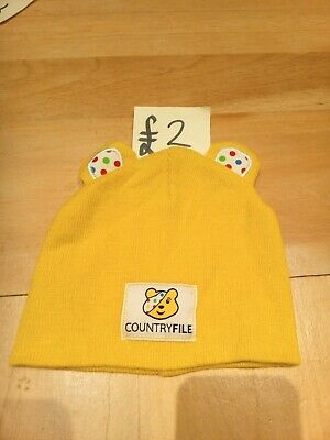 Yellow Country File Pudsey Bear Hat Beanie Peter Storm • 2£