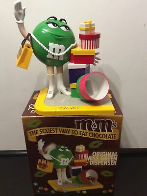 M&M's Sweet Dispenser Large Boxed Original Miss Green 2001 Taxi Shopaholic 27cm  • 9.50£