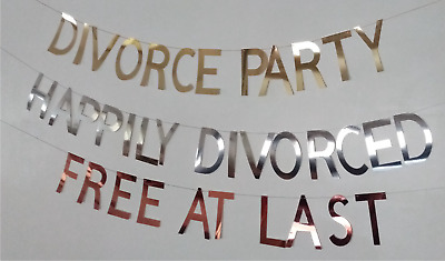 £7.30 • Buy Divorce Party Banners. Bunting, Garland, Decorations. ''HAPPILY DIVORCED''