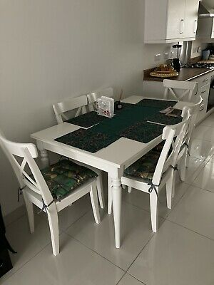 Wooden Dining Table And Chairs Used • 130£