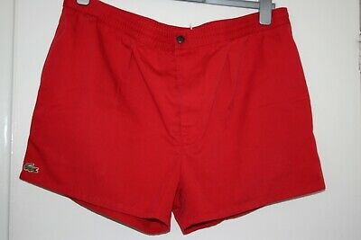 Izod Lacoste - Shorts - Size XL - Red - Vintage 70s 80s Trousers - Mod Casuals • 19.99£