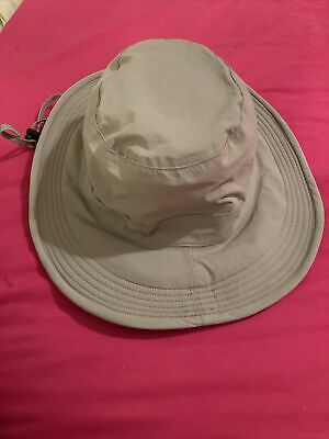 Peter Storm Bucket Hat Adult Size Beige S/M Hidden Pocket Inside. • 4.50£