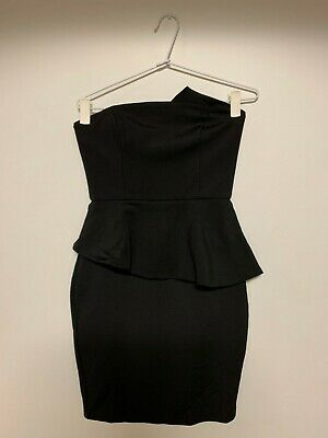 AU25 • Buy [Used] Womens Forever New Black Cocktail Bodycon Dress - Size AU8 RRP$129.95