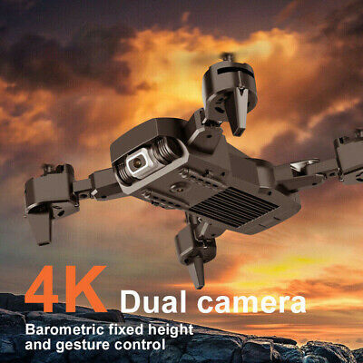 Drone Pro WIFI FPV 4K HD Dual Camera Battery Foldable Selfie RC Quadcopter UK • 25.49£