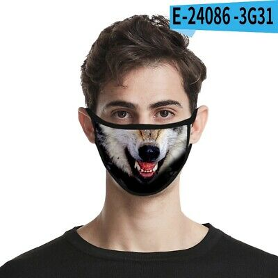 £3.50 • Buy Face Mask  Wolf Teeth 3D Print Soft Washable Reusable Mouth Nose Covering Uk