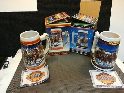 $ CDN27.74 • Buy Budweiser 1999  2002 Holiday Steins Beer Mugs With Certificate Of Authenticity