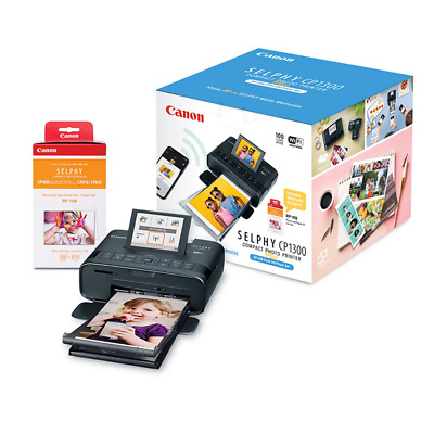 View Details Canon Selphy CP1300 Compact Photo Printer Bundle - Black • 89.99$