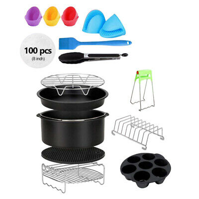 AU65.79 • Buy Air Fryer Accessories 13PCS, With 8 Inch Cake Pan, Pizza Pan, Silicone Cake