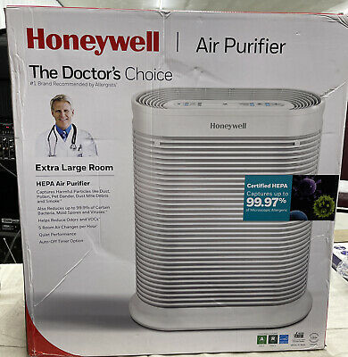 NEW!! Honeywell True HEPA Allergen Air Purifier, Extra-Large Room, White HPA304 • 160.82£