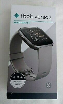 $ CDN126.81 • Buy Fitbit Versa 2 SMARTWATCH Health And Fitness ORIGINAL BOX Black And Gray Bands