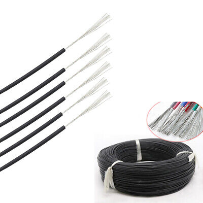 AU18.69 • Buy 2 ~ 30AWG Silicone Cable Flexible Soft Wire UL 0.08mm Black RC 2000V HV Wires VW