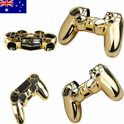 AU12.07 • Buy For PS4  Controller Cover Protective Anti Scratch Gold Hard Shell Case