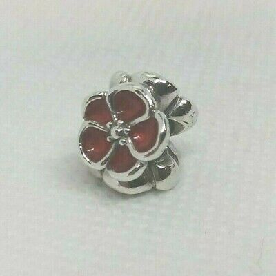 AU20.23 • Buy Authentic PANDORA Sterling Silver Red Fuchsia Enamel Charm POPPY #790897EN07