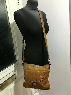 Marks & Spencer Genuine Leather Brown Tan Womens Cross Body & Messenger Bags • 0.99£