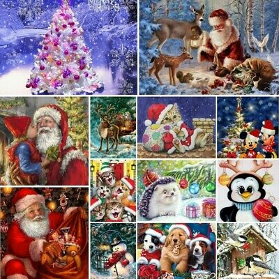 £4.24 • Buy On Sale Full Drill 5D Diamond Painting Embroidery Cross Stitch Christmas DIY Kit