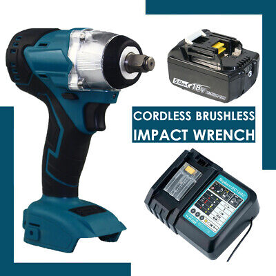 Cordless Impact Wrench For Makita DTW285Z Brushless 1/2  18V Li-ion Body+Charger • 50.38£