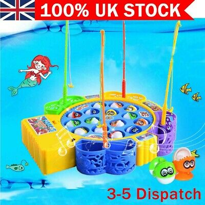 £10.89 • Buy Electric Music Rotating Magnetic Fish Go Fishing Game Kids Child Educational Toy