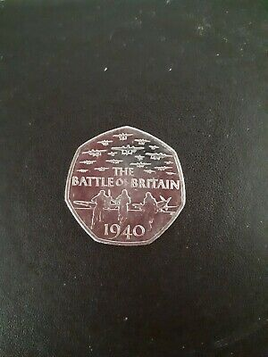 2015 Battle Of Britain 50 Pence Coin • 1.30£