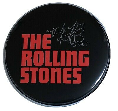 Signed Charlie Watts The Rolling Stones 12 Inch Drum Head Rare Jagger Richards • 149.99£
