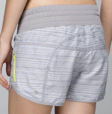 $ CDN39.34 • Buy Rare Lululemon Tracker Shorts Wee Are From Space Silver Spoon Ambient Gray Sz 4