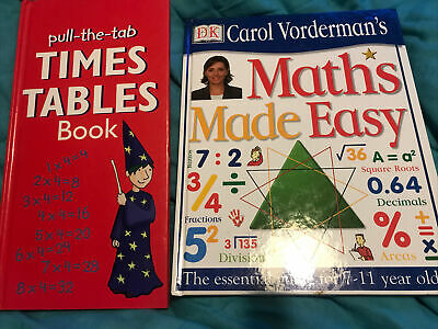 £5 • Buy Maths Made Easy Carol Vorderman And Pull The Tab Times Tables Books
