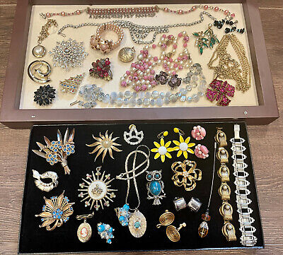 $ CDN23.98 • Buy Lot Vintage Costume Jewelry Unresearched Antique Signed & Not Estate Bulk Buy