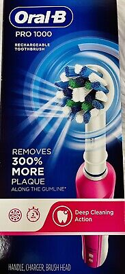 AU51.53 • Buy Oral-b Pro 1000 Rechargeable Toothbrush Removes 300% More Plaque- L10