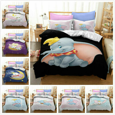 AU74.69 • Buy Dumbo 3D Printed Bedding Set 2/3Pcs Duvet Cover & Pillowcase(s) Gift UK6