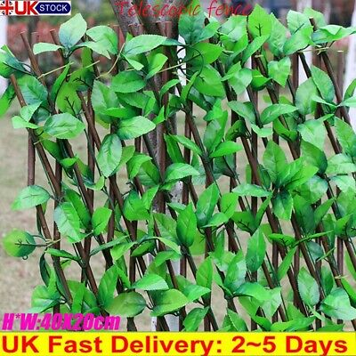 £13.88 • Buy Artificial Ivy Leaf Hedge Panels Roll Privacy Screening Garden Home Fence Decor