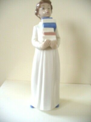 Lladro Nao Figure Of Boy Carrying Books- Ready For Tomorrow - #233g • 10£