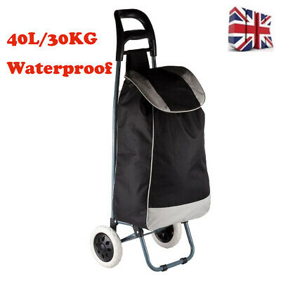 £14.99 • Buy Large Push Shopping Trolley Foldable Grocery Luggage Carrier Cart Bag With Wheel