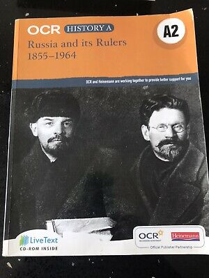 OCR A Level History A2: Russia And Its Rulers 1855-1964 9780435312428 • 2.70£